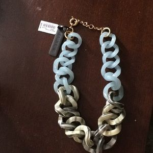 J. Crew enamel chain necklace, NWT